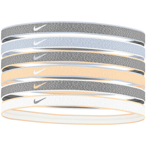 Nike Heathered Headbands 6pk iron grey blue grey