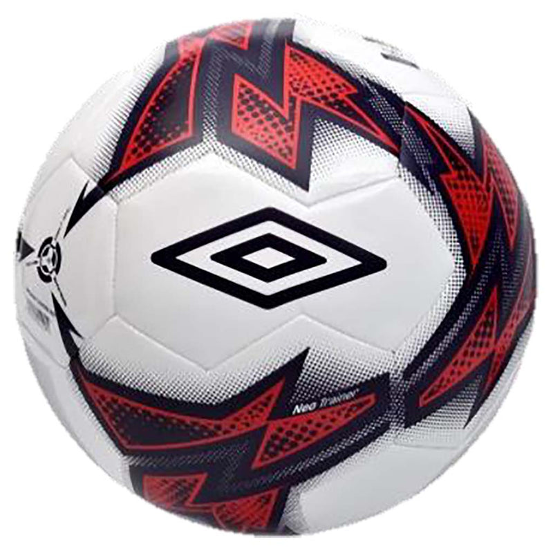 Umbro Neo Trainer soccer ball white eclipse red