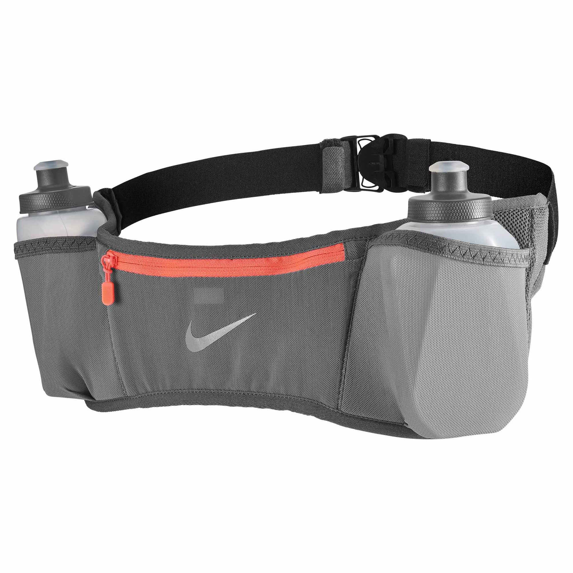 Nike Double Pocket Flask 20 oz 3.0 ceinture d'hydratation de course à pied Gris