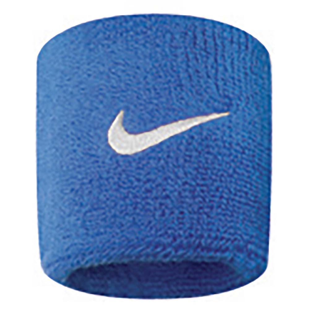 Nike Wristbands Swoosh royal blue white
