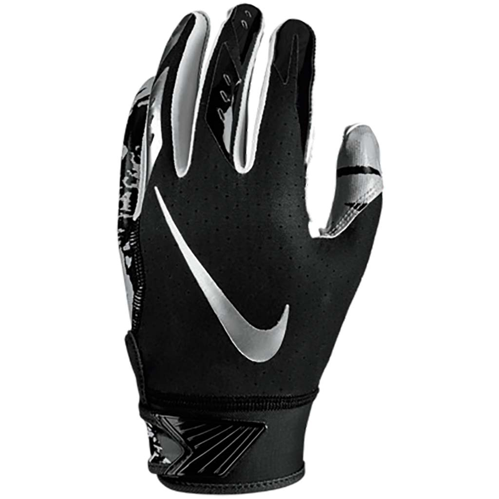 Nike Youth Vapor Jet 5.0 FG gants de football black black chrome