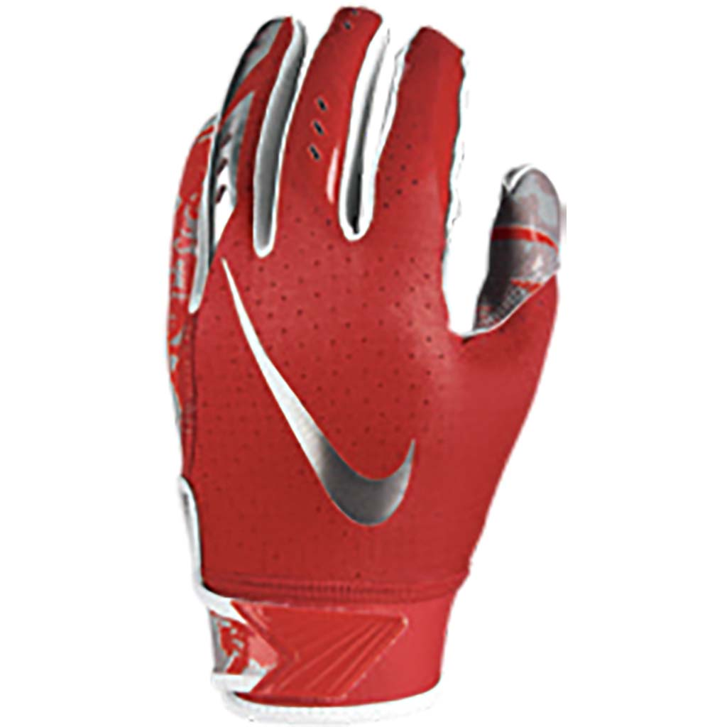 Nike Youth Vapor Jet 5.0 FG gants de football varsity red