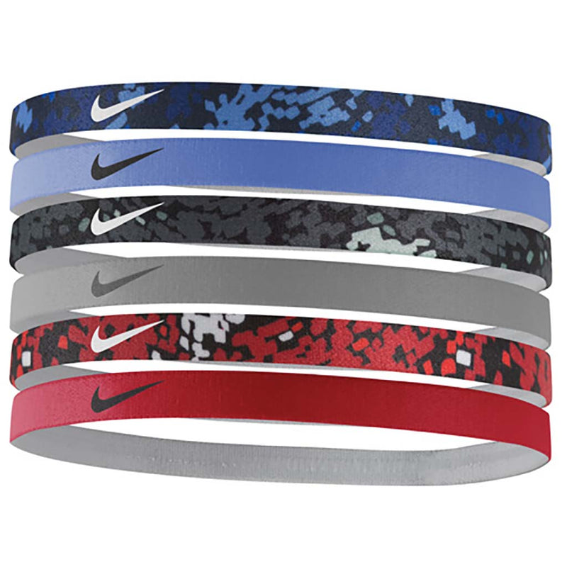 Nike printed headbands black volt maroon