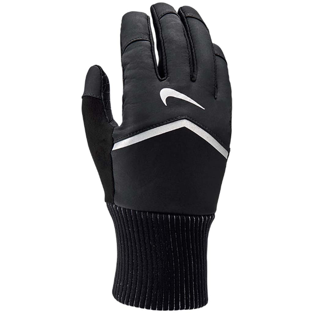 Nike Shield women's running gloves black face