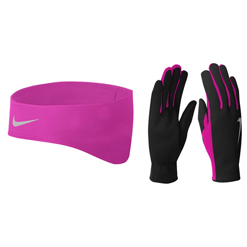 Nike women's running thermal headband and glove set