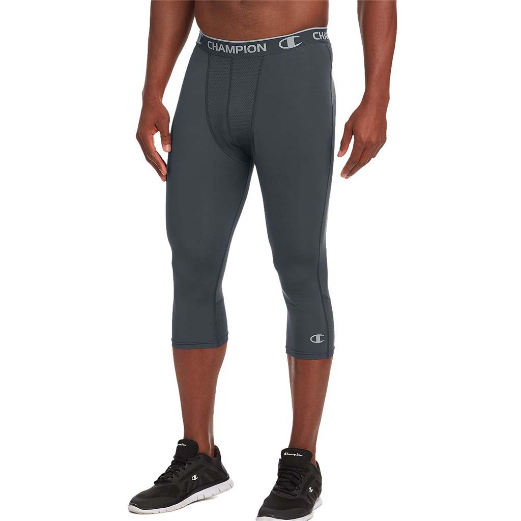 Champion Power Flex baselayer legging de compression sport 3/4 gris pour homme