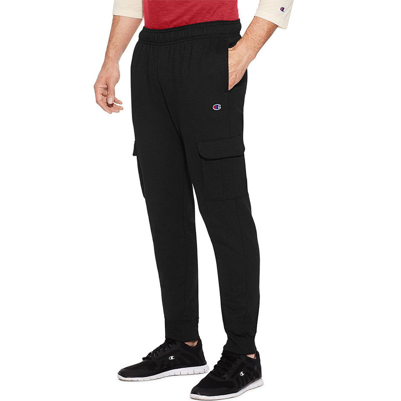 Champion Powerblend Fleece pantalon cargo pour homme noir