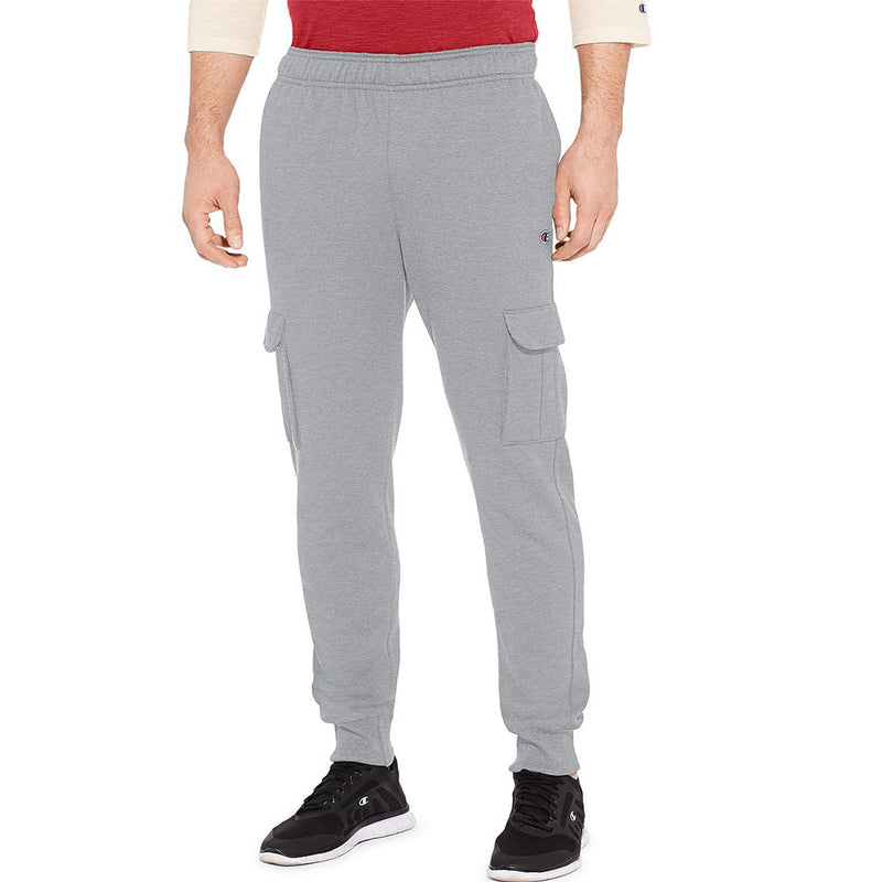 Champion Powerblend Fleece pantalon cargo pour homme gris oxford