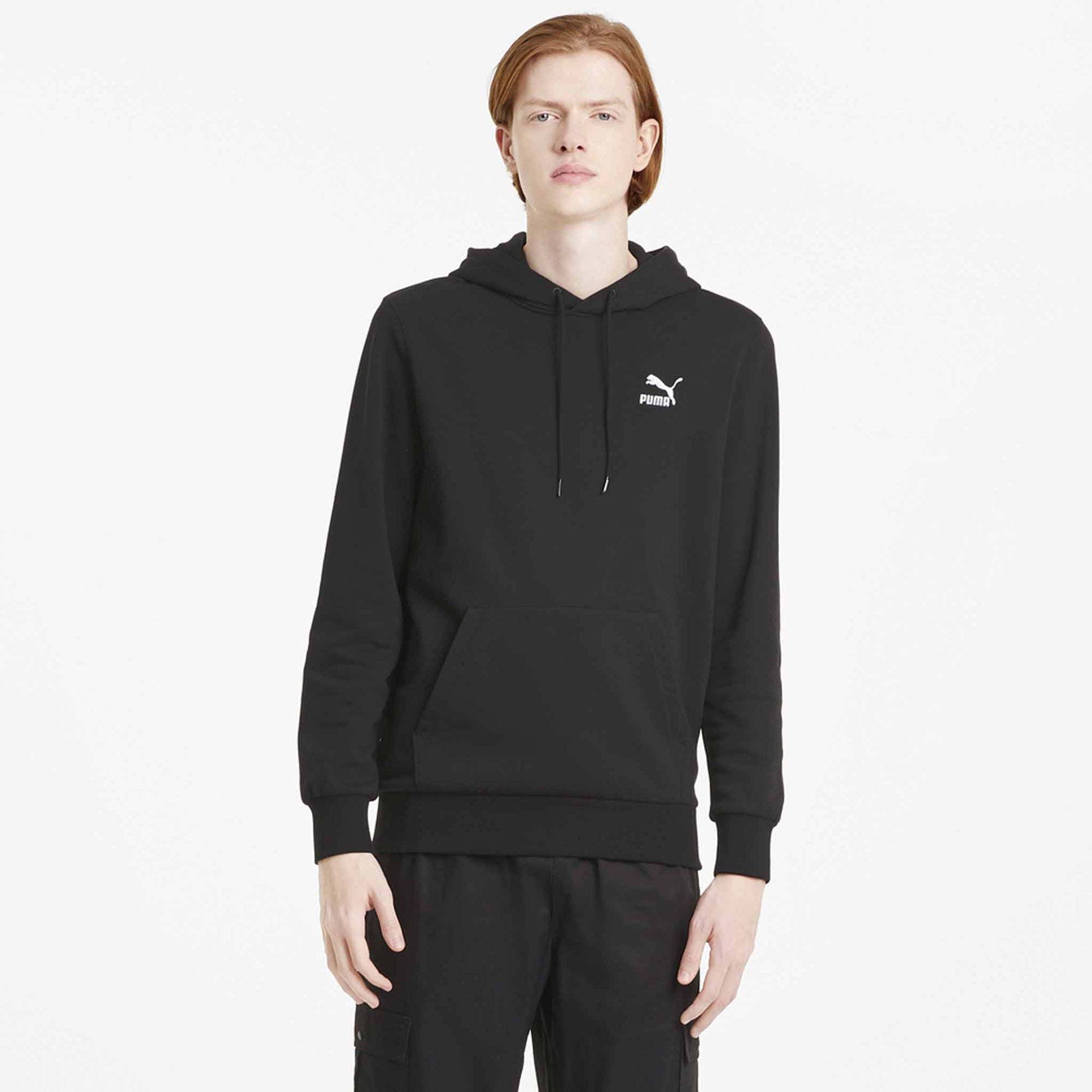 Puma Classics Embroidered Hoodie pour homme noir