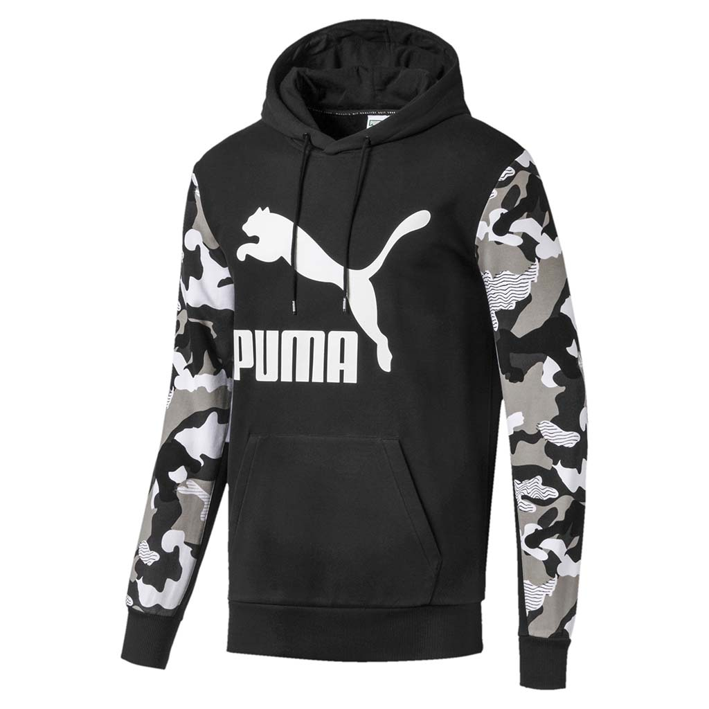 Puma Classics Men's Graphic AOP Hoodie black