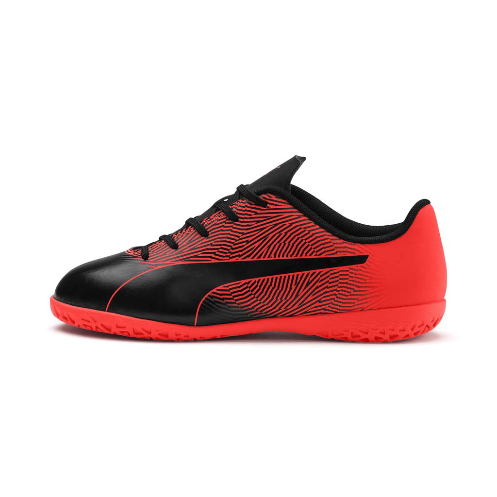 Puma Spirit II junior interior soccer shoes black red