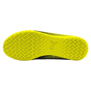 Puma Spirit II junior interior soccer shoes black yellow sole