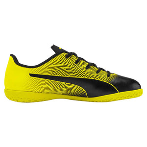 Puma Spirit II junior interior soccer shoes black yellow lv