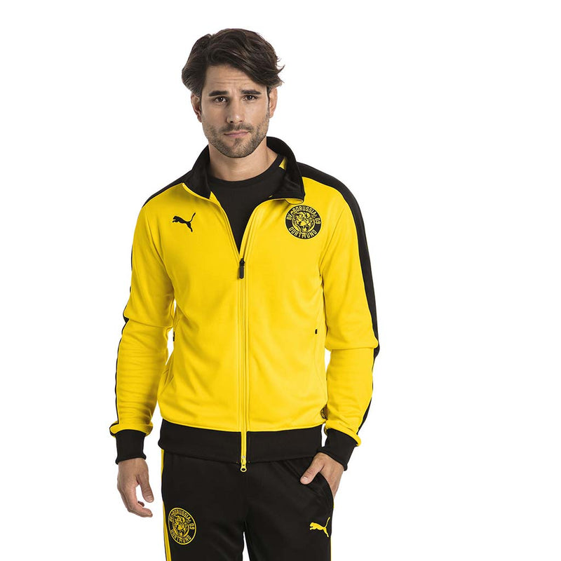 Veste de survetement Puma BVB T7 Track Jacket jaune lv1
