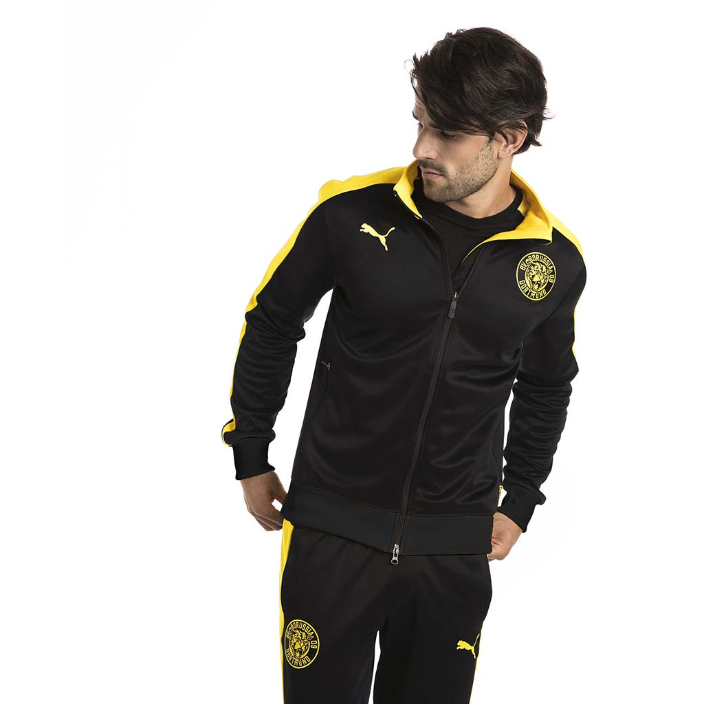Veste de survetement Puma BVB T7 Track Jacket noir lv3