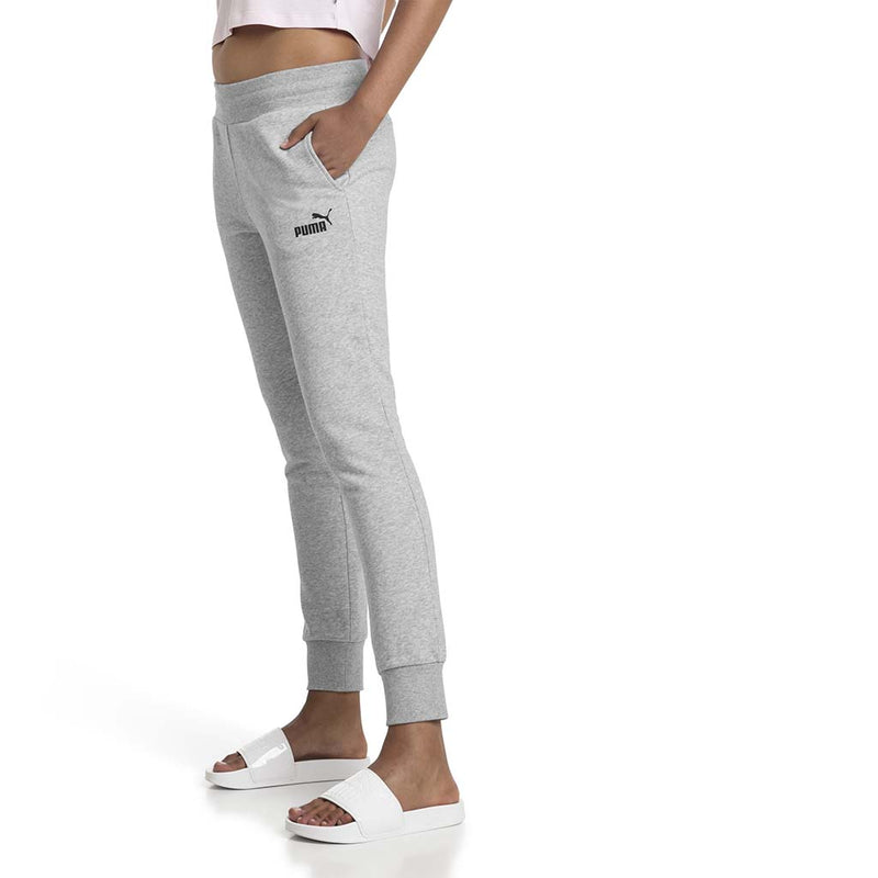 Pantalon de survetement Puma Essential Sweatpants gris pour femme lv1