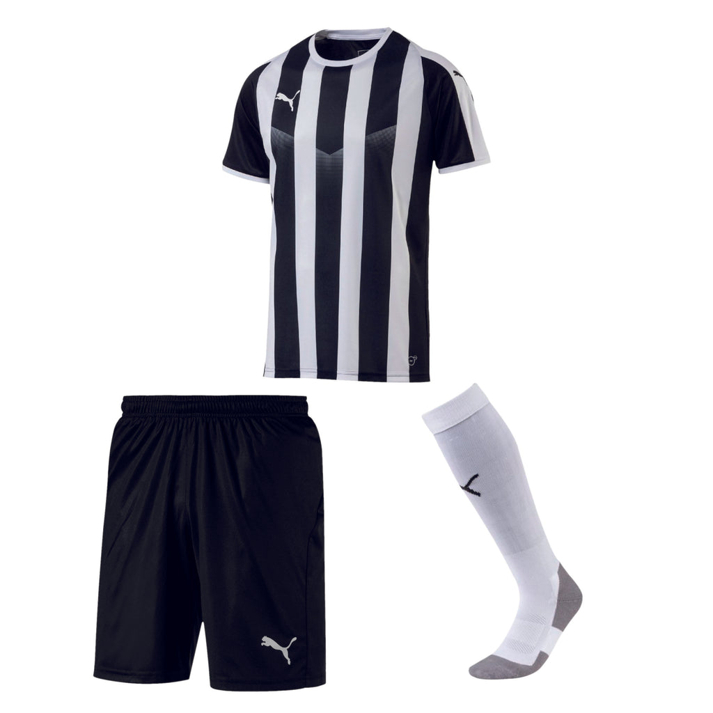 Puma Liga Striped ensemble de soccer chandail short et bas d'équipe adulte