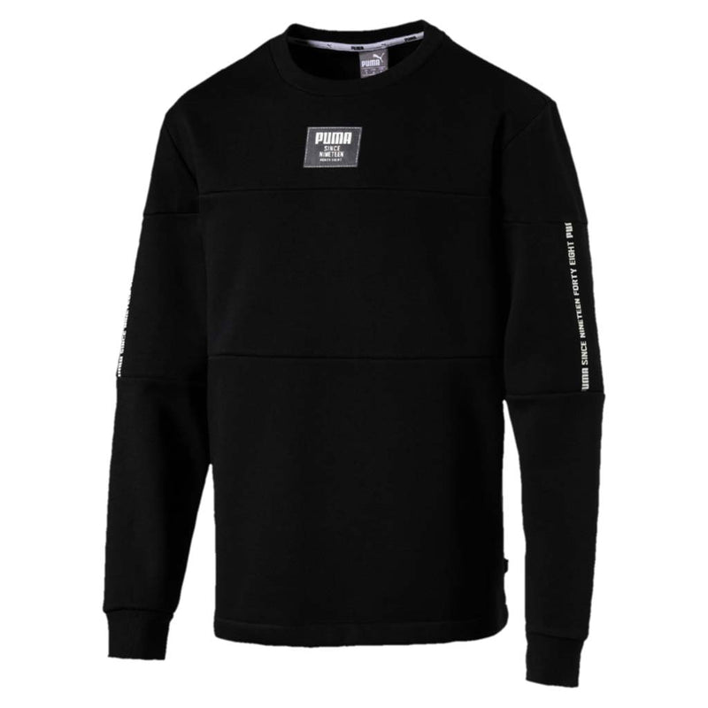 Chandail en molleton Puma Rebel Block Fleece noir pour homme