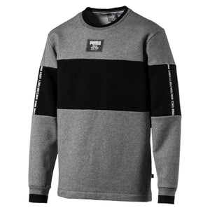 Chandail en molleton Puma Rebel Block Fleece gris pour homme