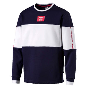 Chandail en molleton Puma Rebel Block Fleece bleu pour homme