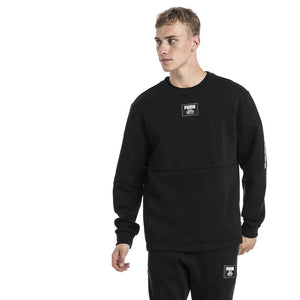 Chandail en molleton Puma Rebel Block Fleece noir pour homme lv1