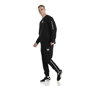 Chandail en molleton Puma Rebel Block Fleece noir pour homme lv3