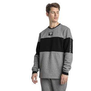 Chandail en molleton Puma Rebel Block Fleece gris pour homme lv1