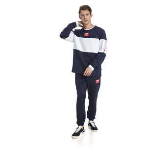 Chandail en molleton Puma Rebel Block Fleece bleu pour homme lv3