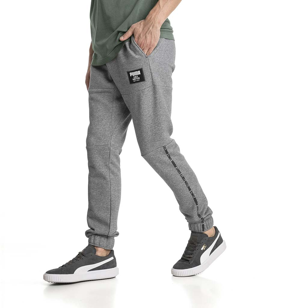 Pantalon de survetement Puma Rebel Block gris pour homme lv1