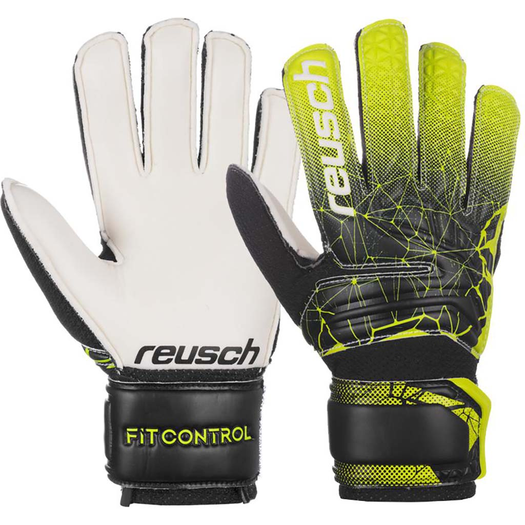 Reusch Fit Control SD Open Cuff junior soccer gloves pair