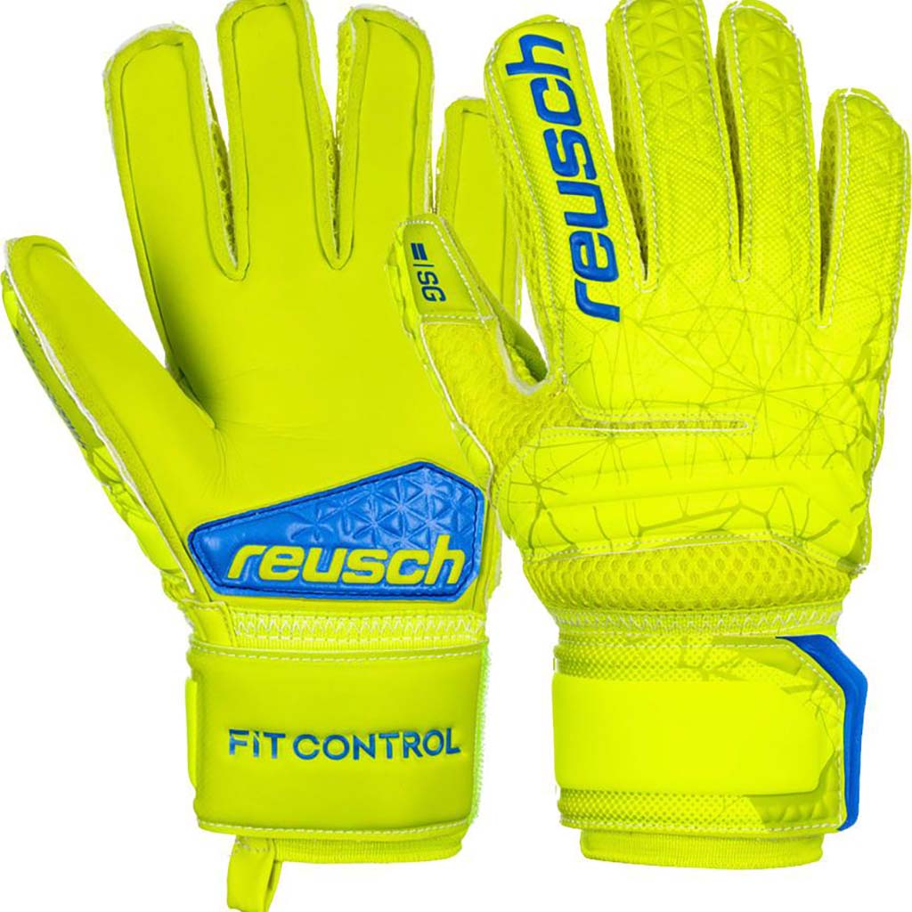 0bea85212569d ... Reusch Fit Control SG Extra Finger Support junior soccer gloves pair ...