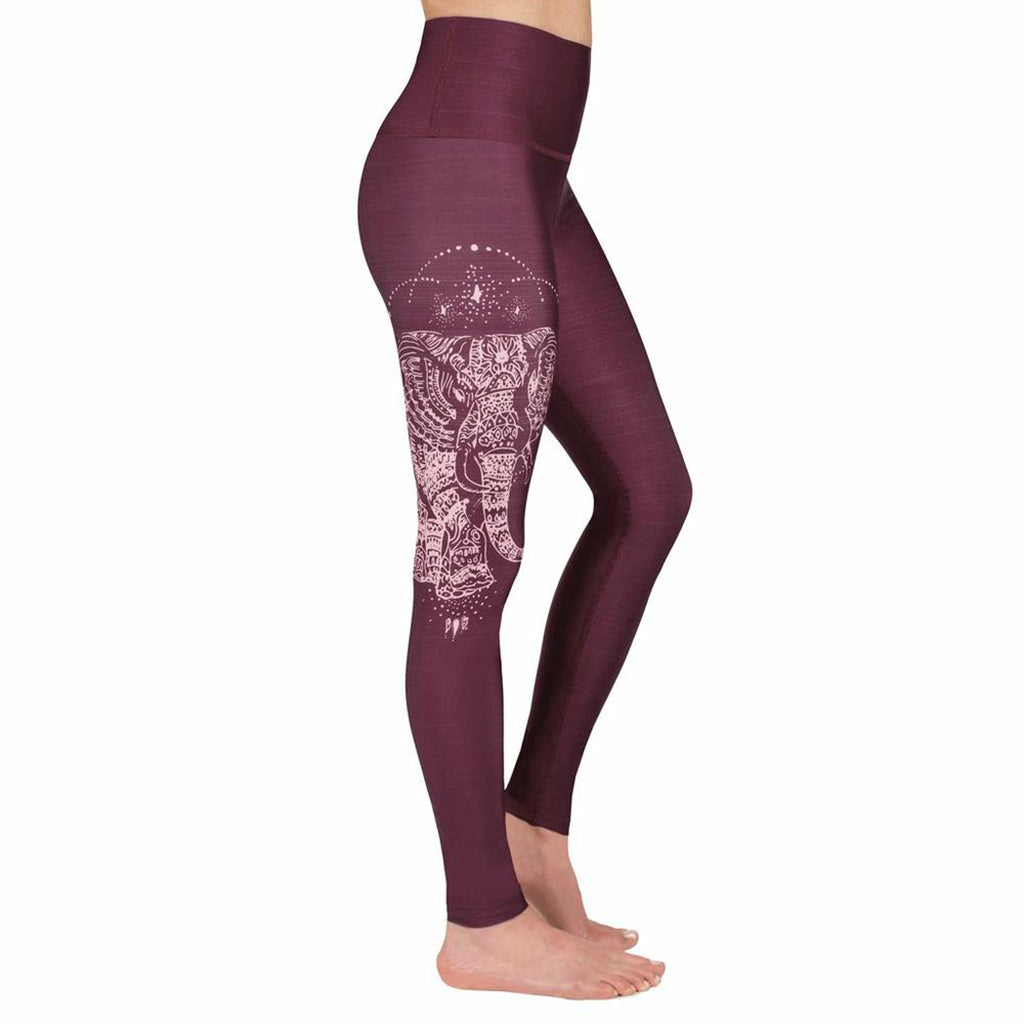 Rose Buddha Elephant Chanceux leggings de yoga