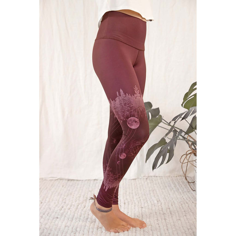 Rose Buddha legging de yoga Lune Mystique lateral