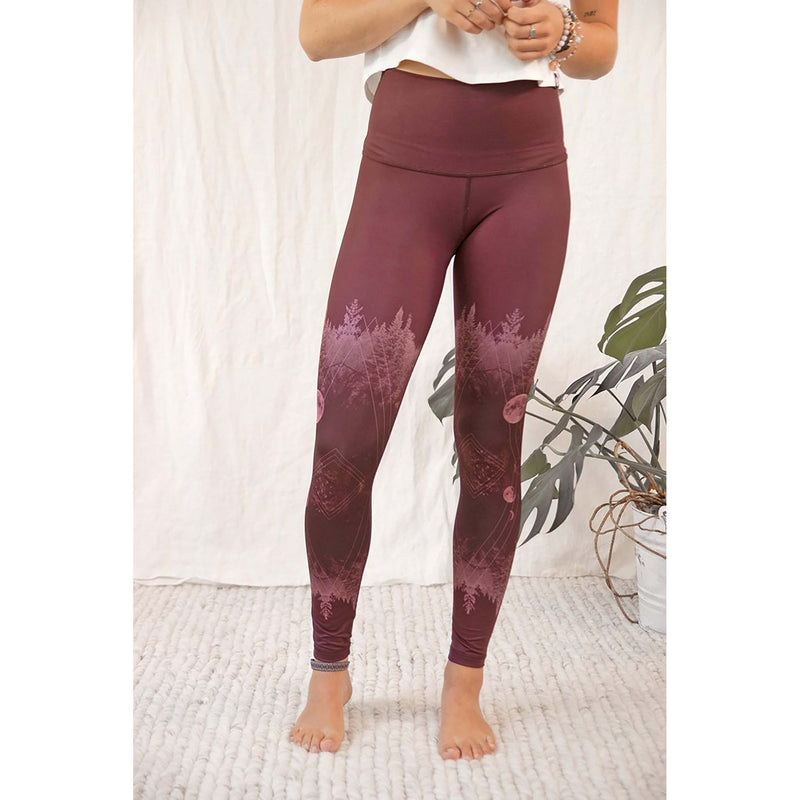 Rose Buddha legging de yoga Lune Mystique