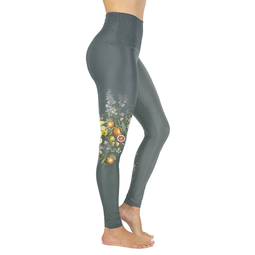 Rose Buddha Citrea leggings de yoga reversible taile haute