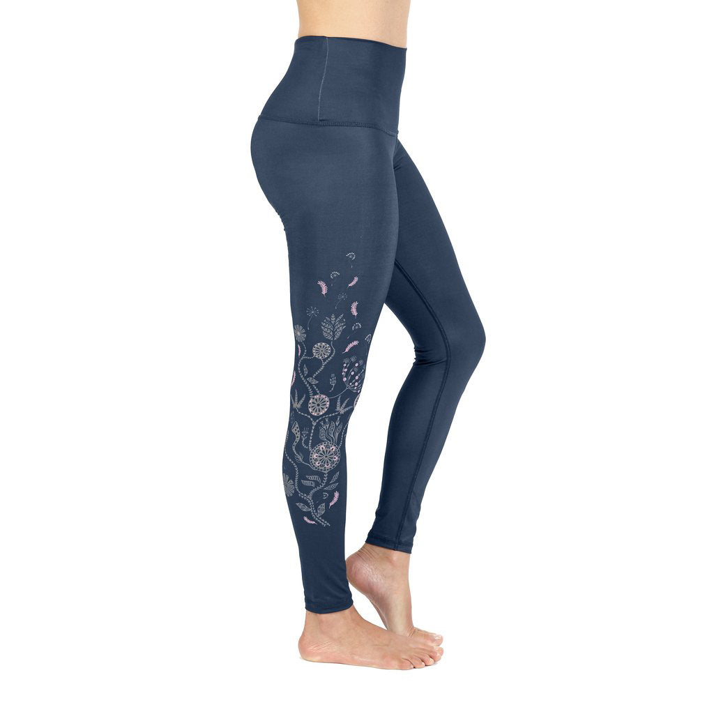 Rose Buddha legging de yoga Foret Enchantee