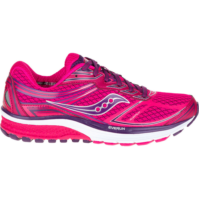 Chaussure de course femme Saucony Guide 9  rose Soccer Sport Fitness