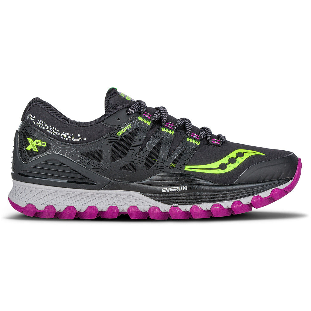 Chaussure de course trail femme Saucony Xodus ISO Runshield women's trail running shoes Soccer Sport Fitness