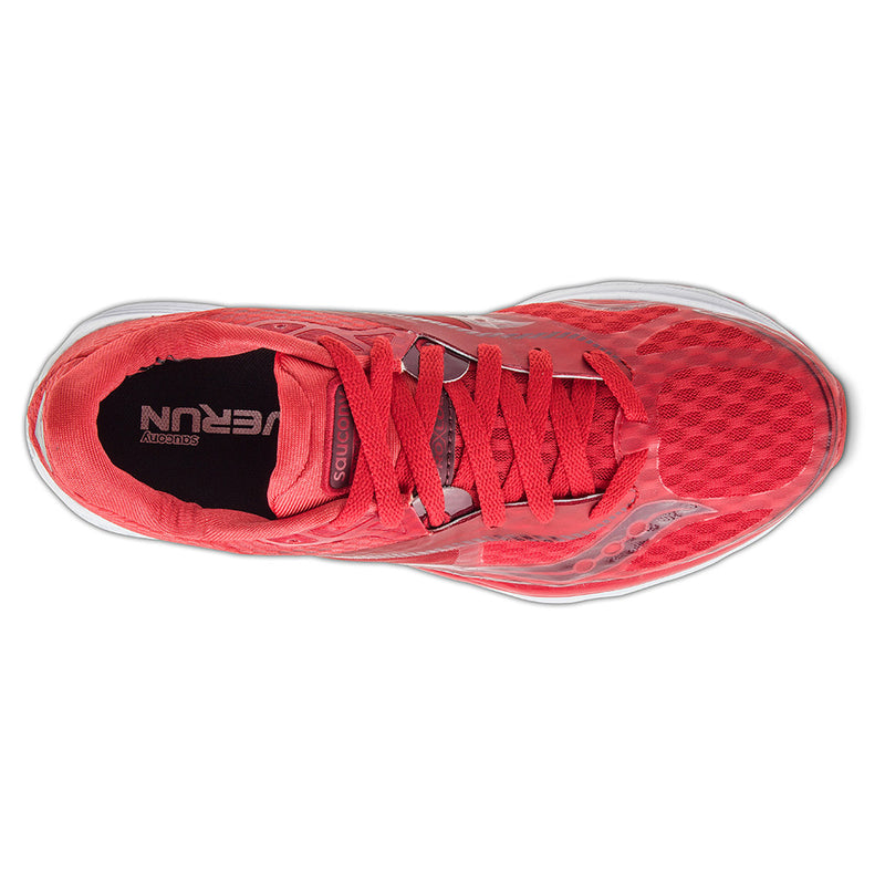 Saucony Kinvara 7 chaussure de course a pied femme race day red uv