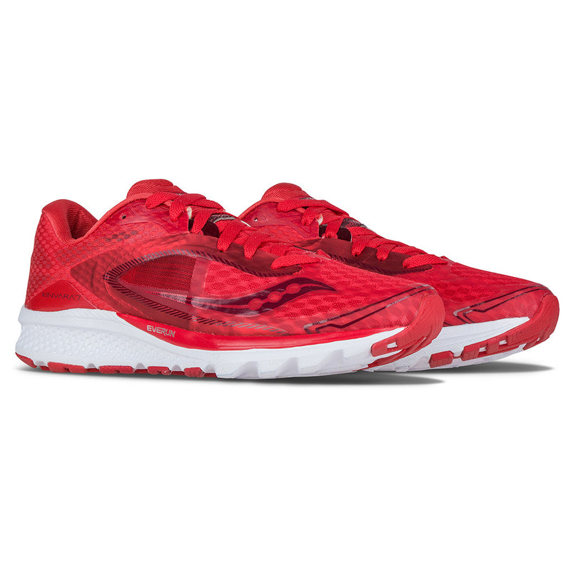 Saucony Kinvara 7 chaussure de course a pied femme race day red paire