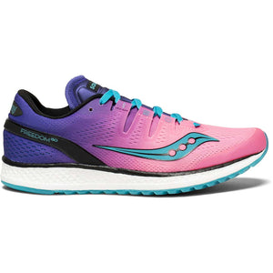 Saucony Freedom Iso chaussure de course a pied femme pink purple teal