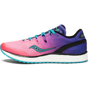 Saucony Freedom Iso chaussure de course a pied femme pink purple teal lv