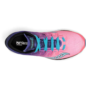 Saucony Freedom Iso chaussure de course a pied femme pink purple teal uv
