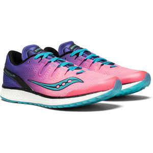 Saucony Freedom Iso chaussure de course a pied femme pink purple teal paire