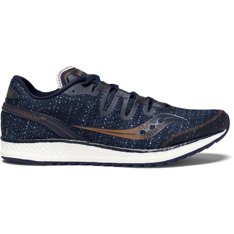 Saucony Freedom Iso chaussure de course a pied bleu marine homme