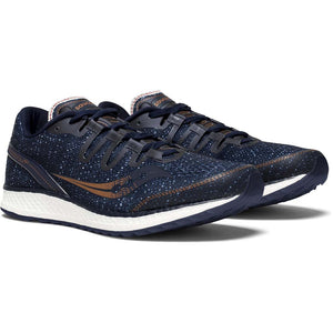 Saucony Freedom Iso chaussure de course a pied bleu marine homme paire