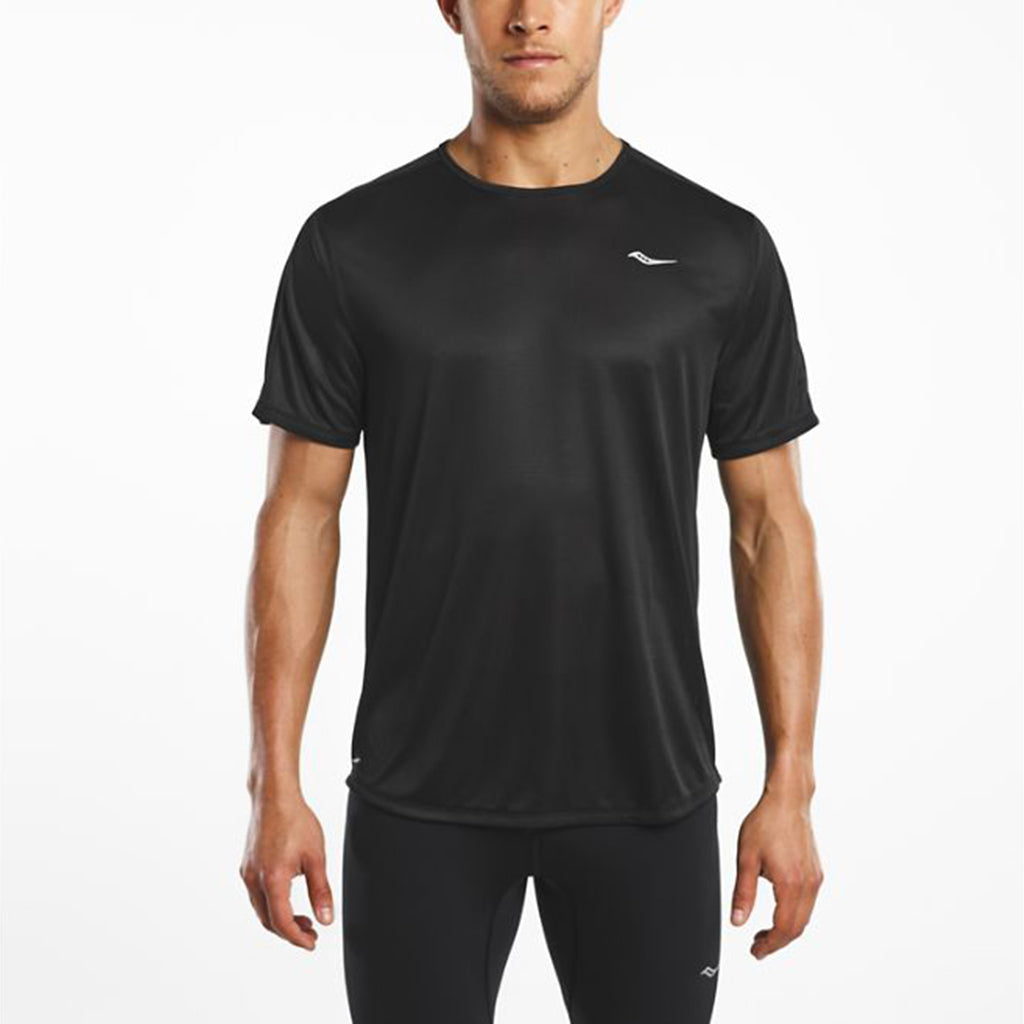 Saucony Hydralite men's running t-shirt black