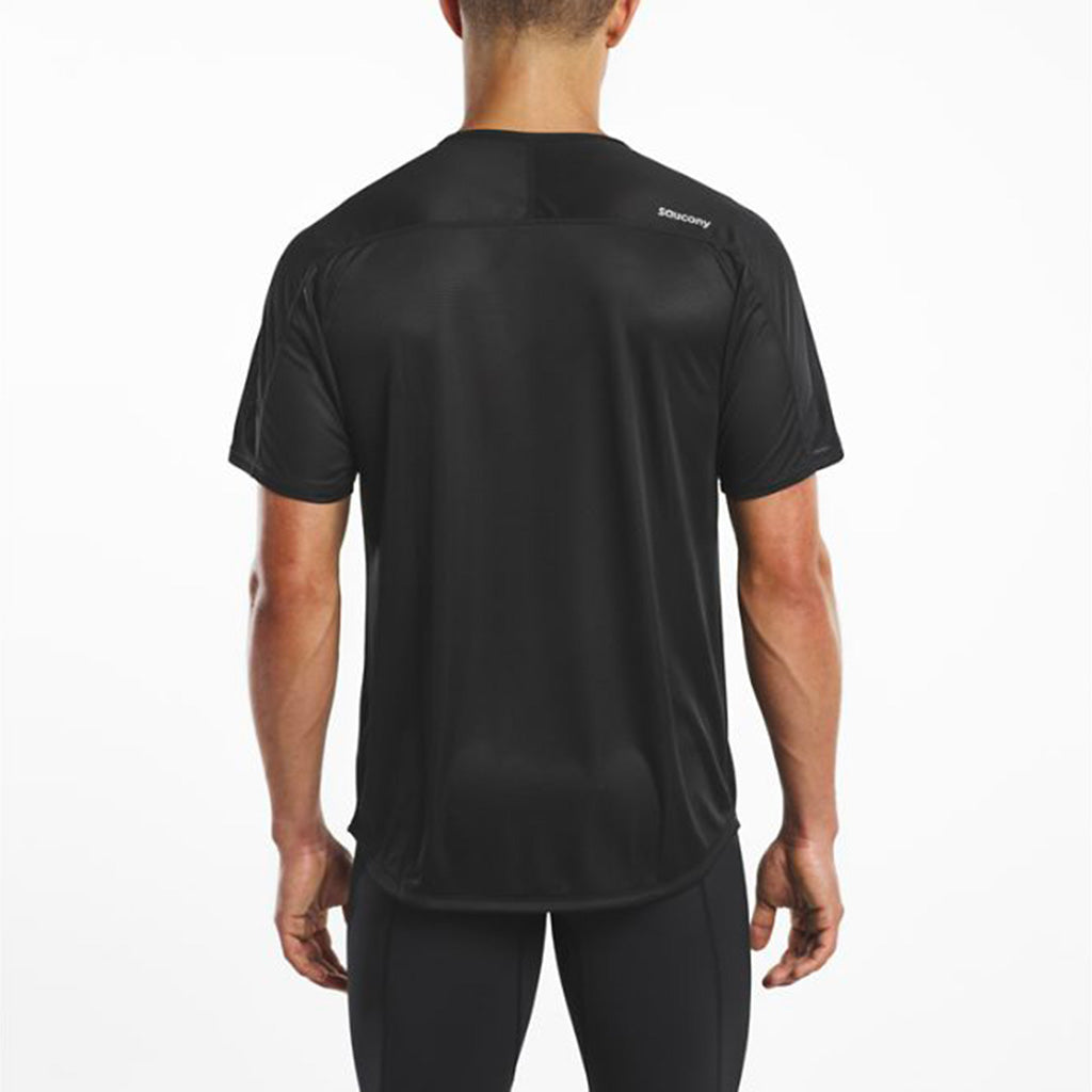 Saucony Hydralite men's running t-shirt black rv