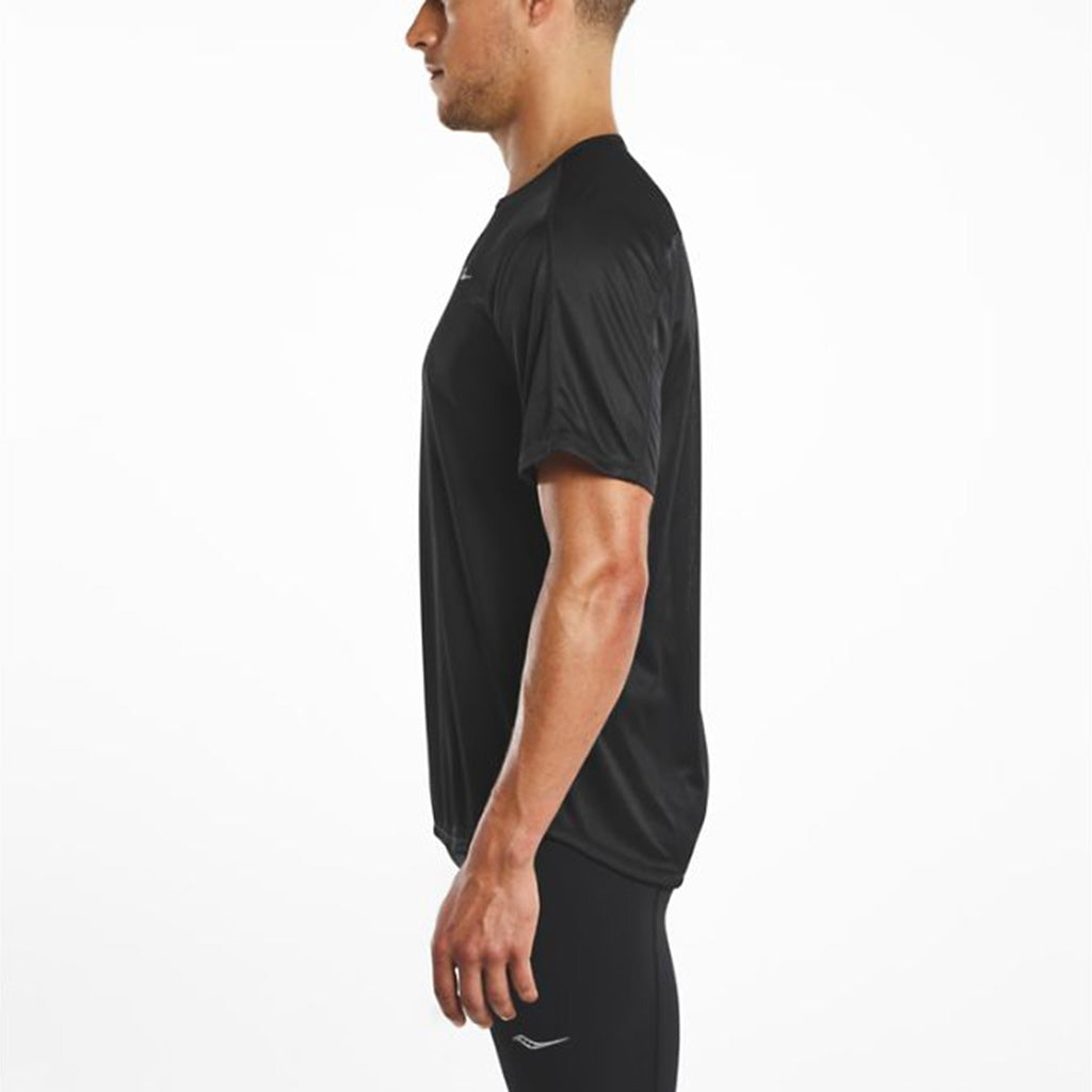 Saucony Hydralite men's running t-shirt black lv