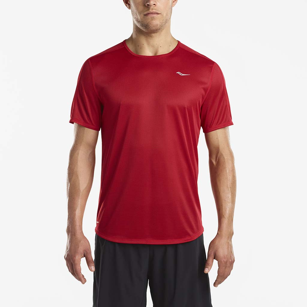 Saucony Hydralite men's running t-shirt red